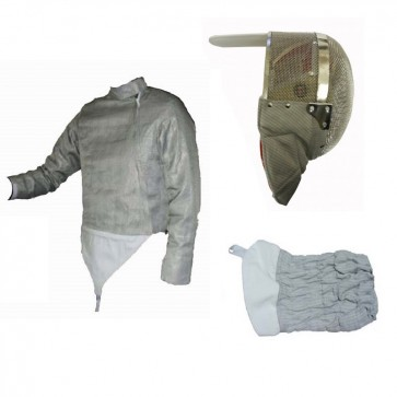 3 PC Electric Sabre Set - Lame, Mask, Cuff