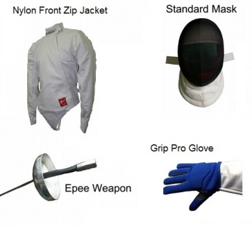 Deluxe 4 Piece Epee Fencing Starter Set