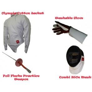Deluxe 4 Piece Foil Fencing Starter Set