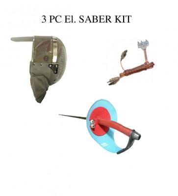 3 PC Saber Set- El. Saber Mask, El. Saber And Bodycord