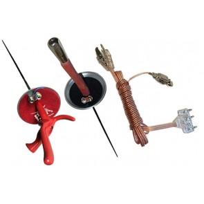 3 PCS Electric Foil Set: 2 Foils + Clear Body Cord