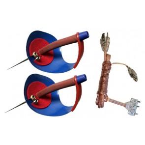 3 PCS Electric Sabre Set: 2 Sabres + Clear Body Cord