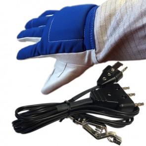 2 PCS Electric Sabre Set: Glove and Econo Bodycord